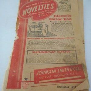 Vintage 1947 Johnson Smith Co Novelties Catalog